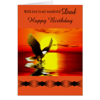 Dad - Happy Birthday - General - Eagle at Sunset Card