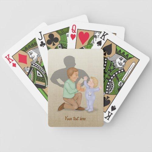 Dad Hero Bicycle Playing Cards