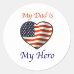dad.hero etiqueta redonda