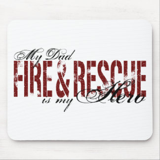 Dad Hero - Fire & Rescue Mouse Pad