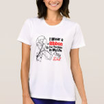 Dad Hero in My Life Lung Cancer Tee Shirt