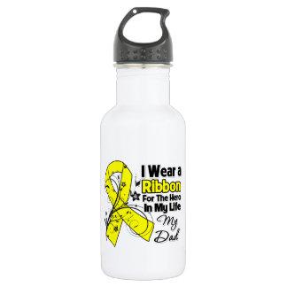 Dad Hero in My Life Sarcoma Awareness Water Bottle
