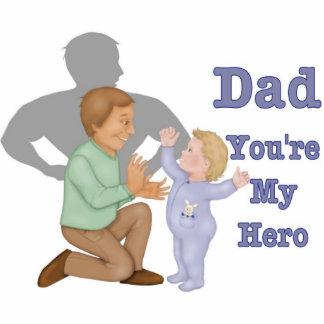 Dad Hero Photo Sculpture Keychain
