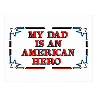 Dad Hero Postcard