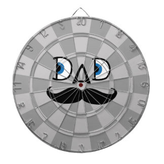 Dad Hipster Mustache, Gray Dartboard