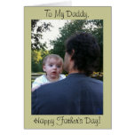 Dad Holding Baby Father's Day Card from Child