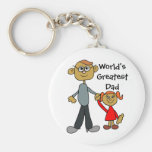 Dad Holding Daughters Hand, World's Greatest Dad!! Key Chain