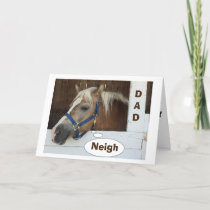 """**DAD** HORSE """"WOULD NEVER FORGET FATHER'S DAY"""" CARD"""