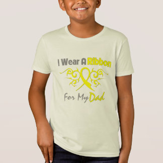 Dad - I Wear A Yellow Ribbon Military Support T-Shirt