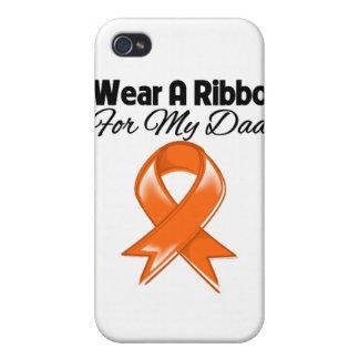 Dad - I Wear Orange Ribbon Stylish iPhone 4/4S Cover