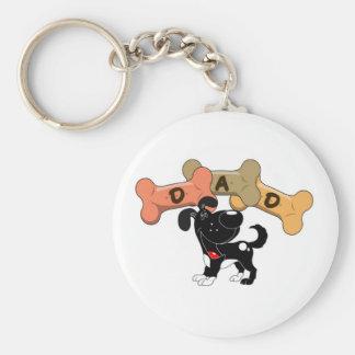 Dad in Dog Treats Basic Round Button Keychain