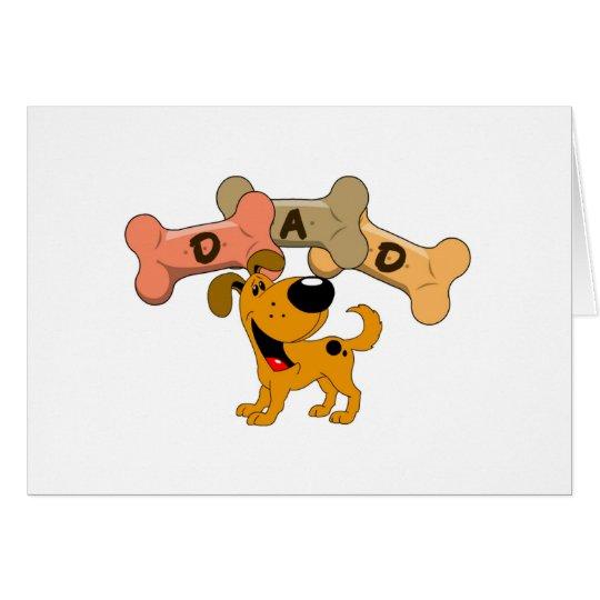 Dad in Dog Treats Card