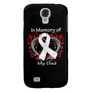 Dad - In Memory Lung Cancer Heart Samsung Galaxy S4 Cases