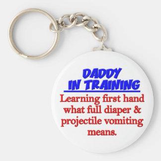Dad in Training Keychain