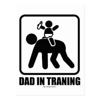 Dad in training postcard