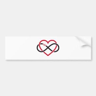 Dad infinity heart for Father's day Bumper Sticker