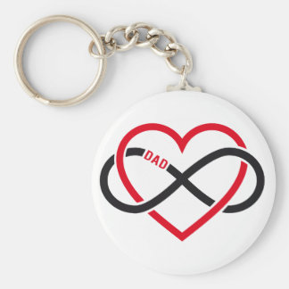 Dad infinity heart for Father's day Key Chain