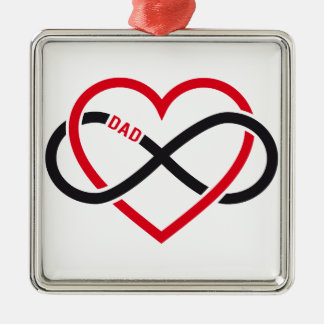 Dad infinity heart for Father's day Christmas Tree Ornament