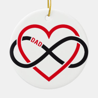 Dad infinity heart for Father's day Christmas Tree Ornaments