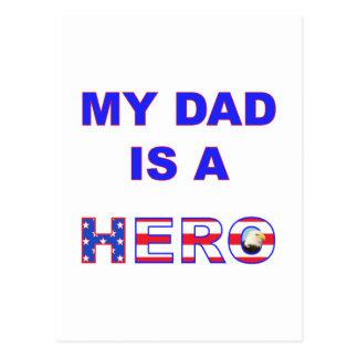 Dad is a Hero Postcard