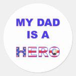 Dad is a Hero Sticker