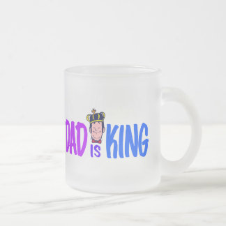 Dad Is King Frosted Glass Coffee Mug