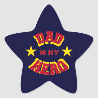 Dad Is My Hero Bright Superhero Text Stickers