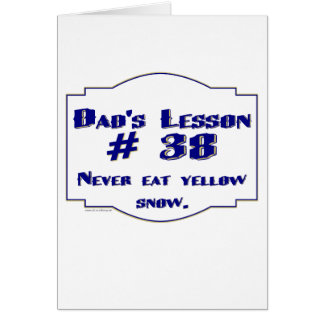 Dad-isms on t-shirts and gifts for dads. card