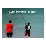 DAD-IT es TIEMPO A FISH-HOMECOMING Tarjeta