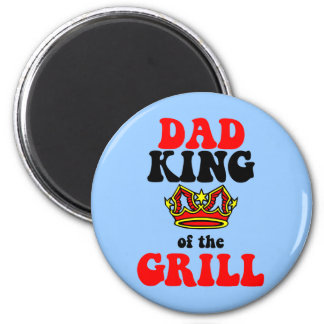 dad king of the grill fathers day 2 inch round magnet