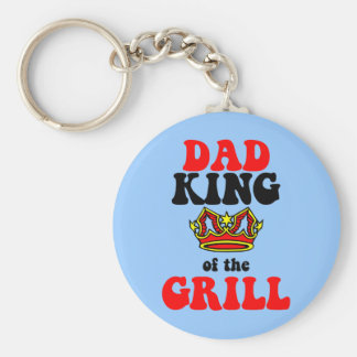 dad king of the grill fathers day keychain