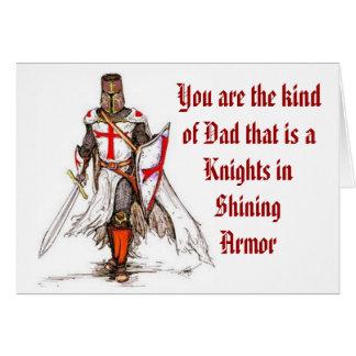 Dad - Knight in Shining Armor Card