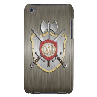 Dad Knights Battle Crest Armor Barely There iPod Case