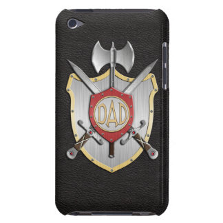 Dad Knights Battle Crest Black Barely There iPod Cover