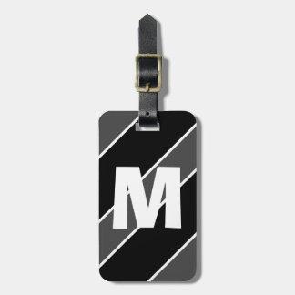 Dad Lib Black Monogrammed Travel Bag Tag