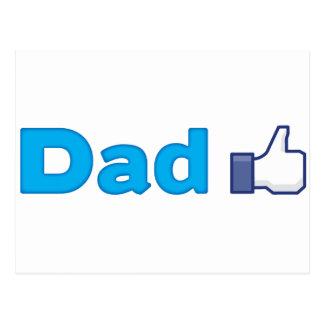Dad Like Postcard