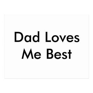 Dad Loves Me Best Card Postcard