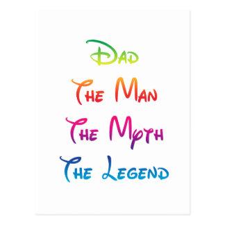 Dad Man Myth Legend 03 Postcard