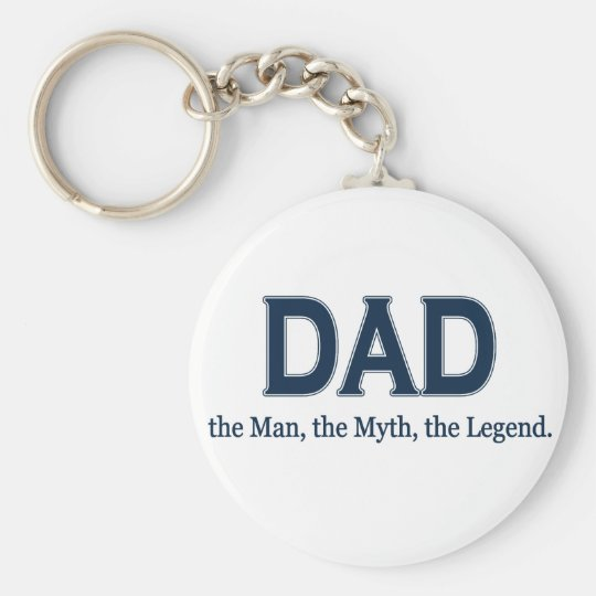 Dad Man Myth Legend Keychain