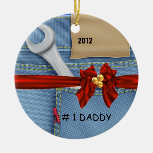 Dad Manly 2012 j ORNAMENT WRENCH PERSONALIZED