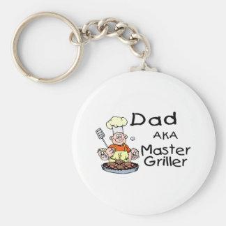 Dad Master Griller Basic Round Button Keychain