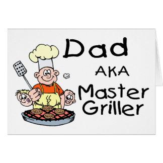 Dad Master Griller Card