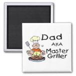 Dad Master Griller Fridge Magnets