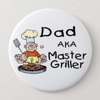 Dad Master Griller Pinback Button