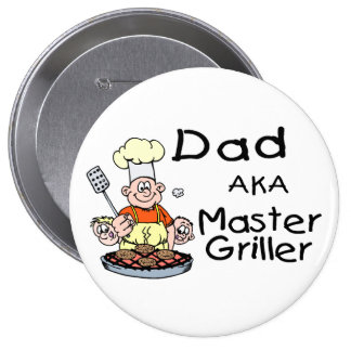 Dad Master Griller Pinback Button