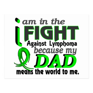 Dad Means The World To Me Lymphoma Postcard