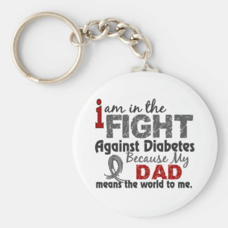 Dad Means World To Me Diabetes Keychain