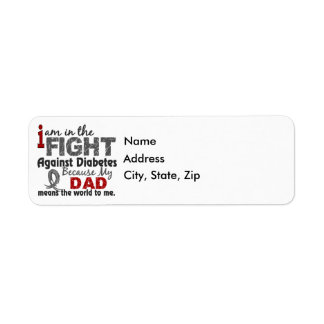 Dad Means World To Me Diabetes Label
