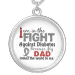Dad Means World To Me Diabetes Necklaces