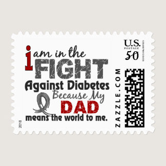 Dad Means World To Me Diabetes Postage
